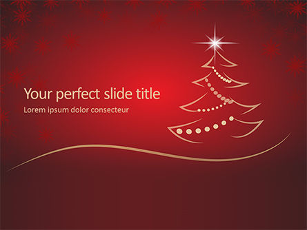 Holiday/Special Occasion: Christmas Greeting Card Background PowerPoint Template #16290