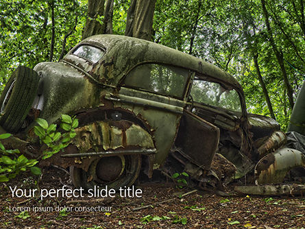 Nature & Environment: Old Car on Cemetery Presentation #16292