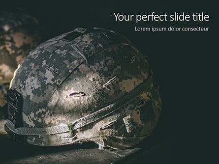 Military: Two Kevlar Helmets with Camouflaged Cover Presentation #16293