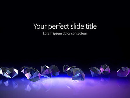 Careers/Industry: Group of Diamonds on Black Background Presentation #16294