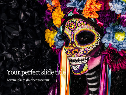 Holiday/Special Occasion: Modelo do PowerPoint - la calavera catrina portrait #16310