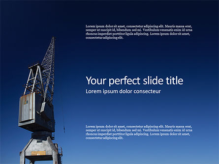 Utilities/Industrial: Plantilla de PowerPoint - gray crane under blue sky #16319