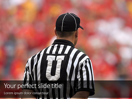 Sports: Modello PowerPoint - Closeup of the back of american football referee #16322