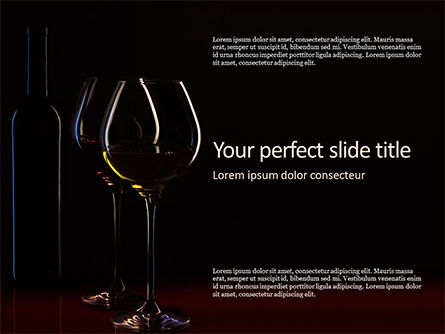Food & Beverage: Wine Glasses and Bottle in the Dark Presentation #16331