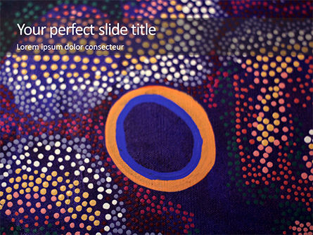 Art & Entertainment: ‎aboriginal Style Of Dot Painting Gratis Powerpoint Template #16342
