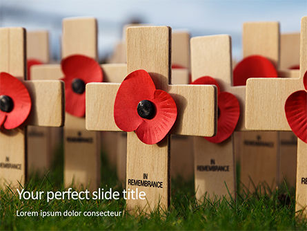 Holiday/Special Occasion: Poppy Crosses Gratis Powerpoint Template #16351