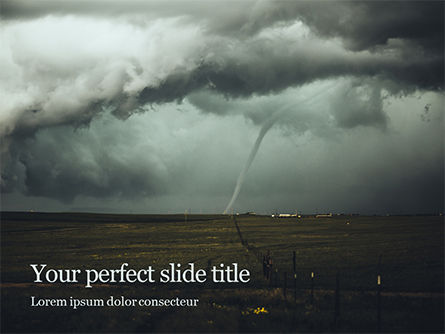 Nature & Environment: Cloudy Tornado and Extreme Weather Presentation #16352