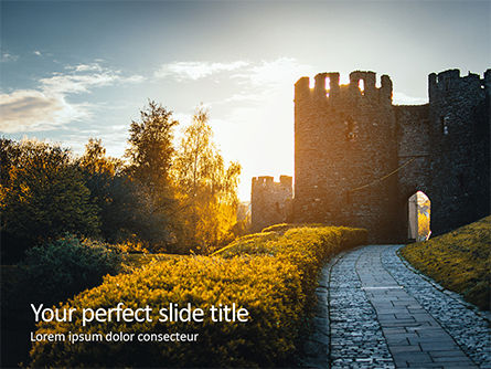 Construction: Modello PowerPoint Gratis - Medieval fortress #16356
