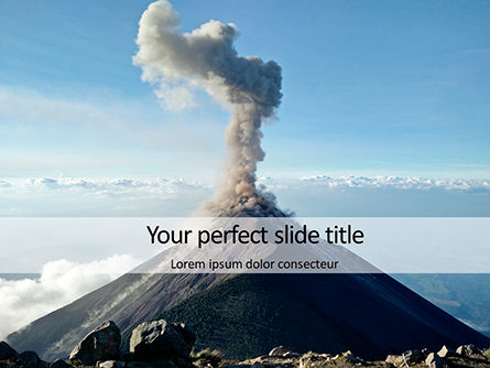 Nature & Environment: Templat PowerPoint Active Volcano #16367