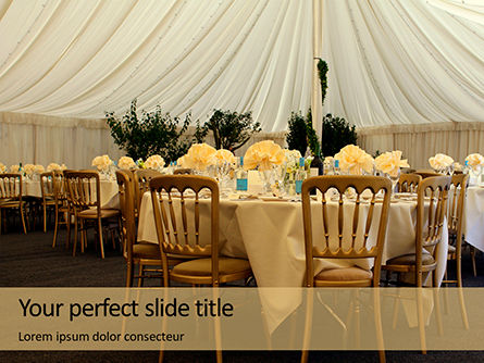 Holiday/Special Occasion: Modelo do PowerPoint - wedding catering #16377