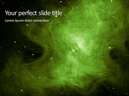 Abstract/Textures: green nebulae - 無料PowerPointテンプレート #16379