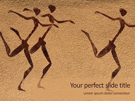Art & Entertainment: Cave Paintings Gratis Powerpoint Template #16384
