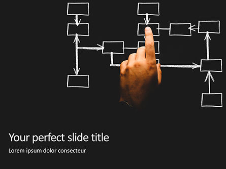 Business Concepts: Modello PowerPoint Gratis - Business process and workflow automation with flowchart #16386