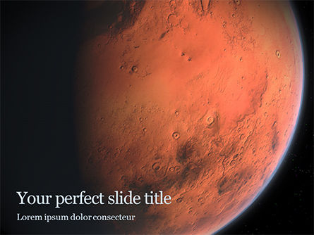 Technology and Science: red planet mars - PowerPointテンプレート #16391