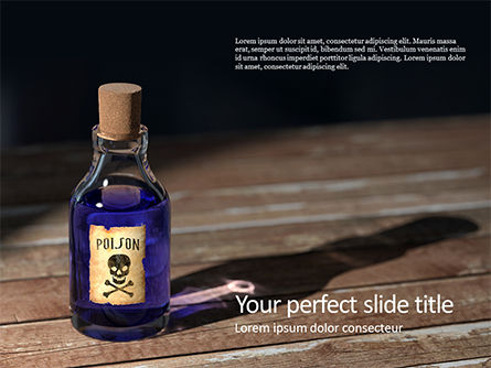 Technology and Science: small bottle of poison - PowerPointテンプレート #16394