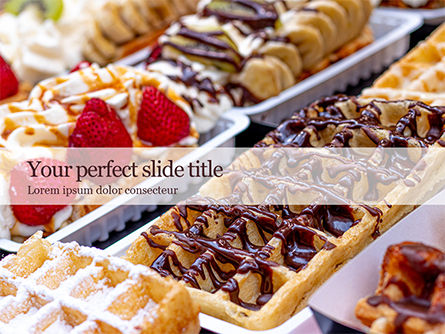 Food & Beverage: Cooked Desserts Gratis Powerpoint Template #16408