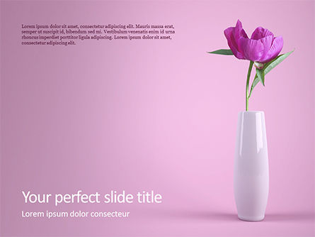 Holiday/Special Occasion: Modelo do PowerPoint - purple peony in vase on violet background #16425