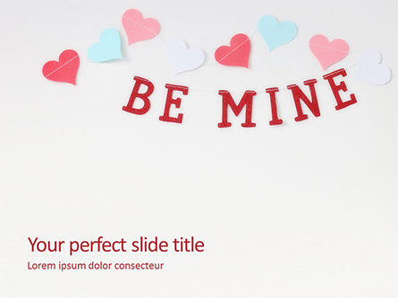 Holiday/Special Occasion: Plantilla de PowerPoint gratis - be mine valentines card #16440