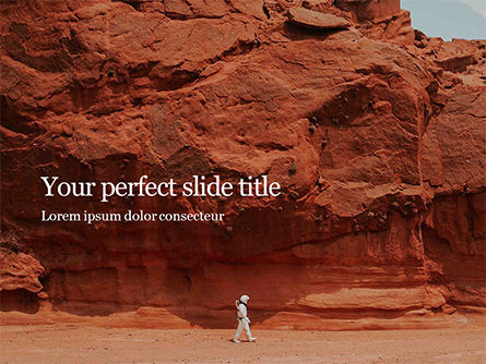 Nature & Environment: Red martian landscape PowerPoint Vorlage #16441