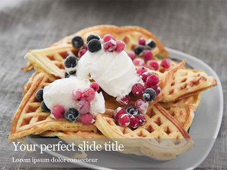 Food & Beverage: Cooked Waffles and Ice Cream Presentation #16443