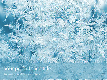 Nature & Environment: Plantilla de PowerPoint - magical frost ornaments #16453