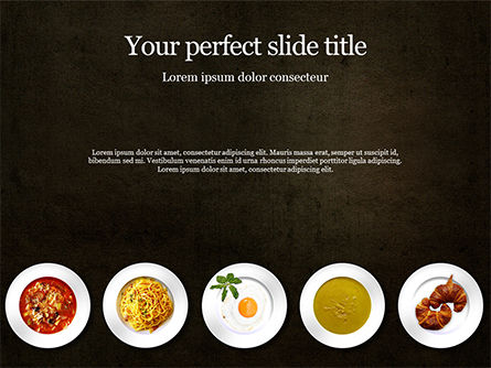 Food & Beverage: Modello PowerPoint - Restaurant menu concept #16475