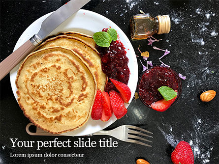Food & Beverage: Pancakes with Jam Presentation #16478