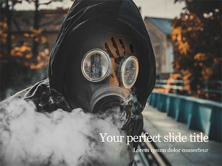 Careers/Industry: Modello PowerPoint - Chemical pollution concept presentation #16487