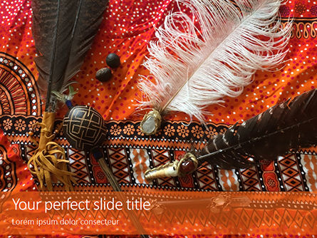 Holiday/Special Occasion: Plantilla de PowerPoint gratis - native american jewelry presentation #16505