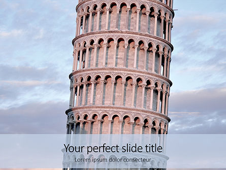 Construction: leaning tower of pisa presentation - PowerPointテンプレート #16506