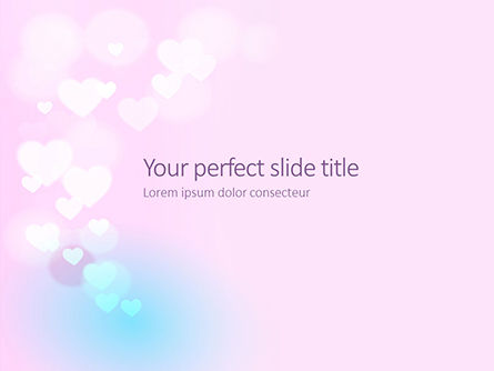 Holiday/Special Occasion: Background With Minimalistic Pastel Pattern Valentine's Day Theme Presentation PowerPoint Template #16509