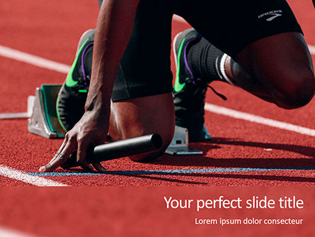 Sports: Modello PowerPoint - Ready for run presentation #16510