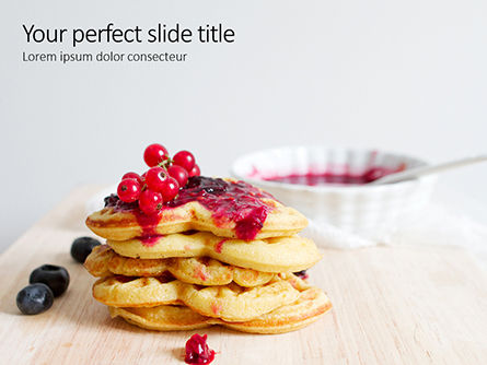 Food & Beverage: Plantilla de PowerPoint - heart shaped waffles presentation #16511