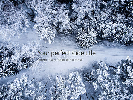 Nature & Environment: Beautiful snowy winter forest presentation PowerPoint Vorlage #16512