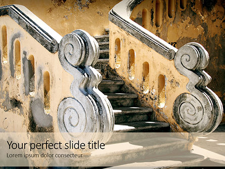 Construction: Ancient Stairs Presentation Gratis Powerpoint Template #16517