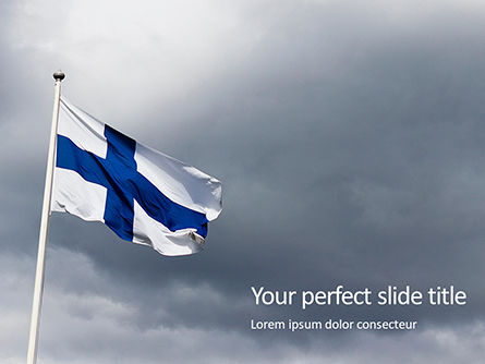 Flags/International: Plantilla de PowerPoint gratis - flag of finland presentation #16522