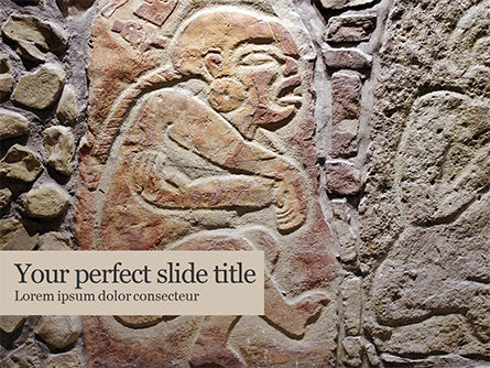 Art & Entertainment: Old Mexican Relief  Presentation Gratis Powerpoint Template #16523