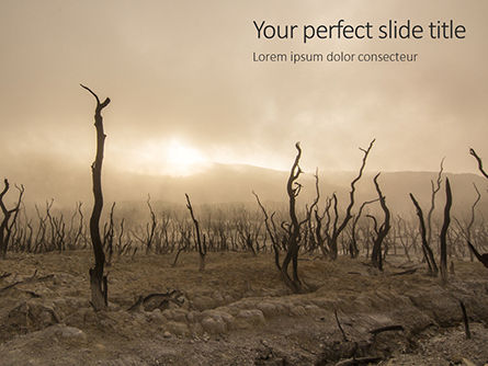 Nature & Environment: Charred Forest Presentation Gratis Powerpoint Template #16529