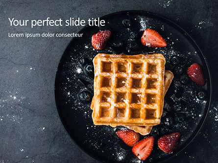 Food & Beverage: Belgian Waffles Presentation Gratis Powerpoint Template #16533