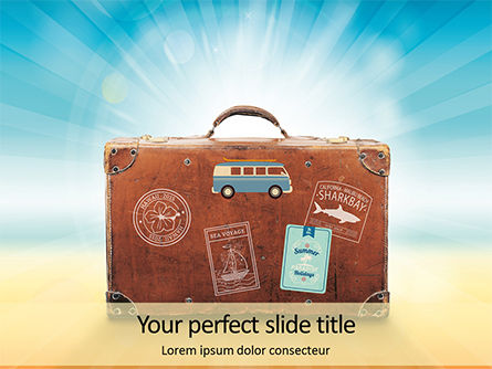Holiday/Special Occasion: Modello PowerPoint Gratis - Summer trip concept presentation #16537