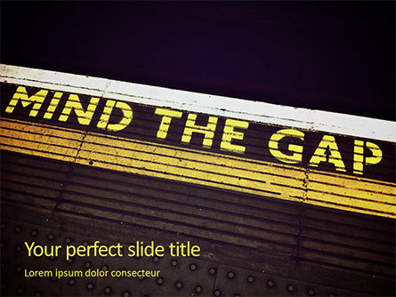 "Cars and Transportation: ""mind The Gap"" Inscription Presentation Gratis Powerpoint Template #16538"