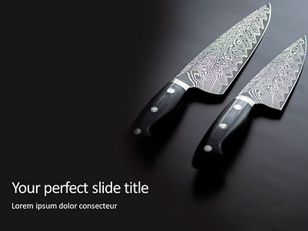 Food & Beverage: Modello PowerPoint - Exclusive knives presentation #16540