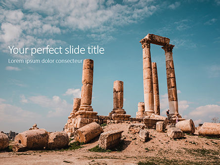 Construction: Temple Of Hercules Amman Presentation PowerPoint Template #16544