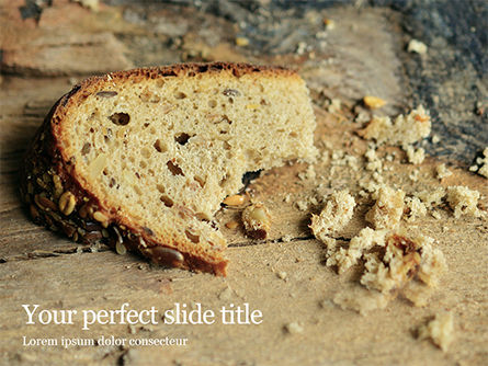 Food & Beverage: Plantilla de PowerPoint - grain bread presentation #16550