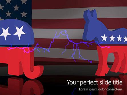 America: 무료 파워포인트 템플릿 - american politics concept presentation #16553