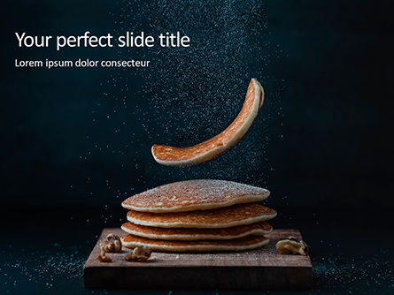 Food & Beverage: Templat PowerPoint Delicious Pancakes With Nuts Presentation #16554
