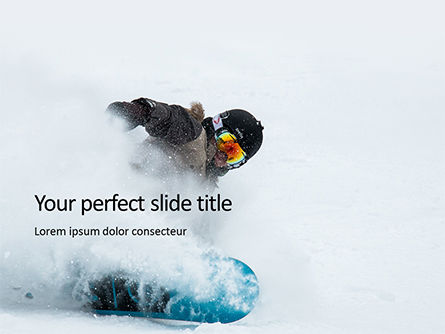 Sports: Modello PowerPoint Gratis - Snowboarder presentation #16558