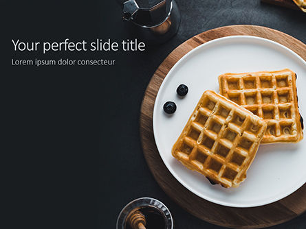 Food & Beverage: Waffles Presentation Gratis Powerpoint Template #16560
