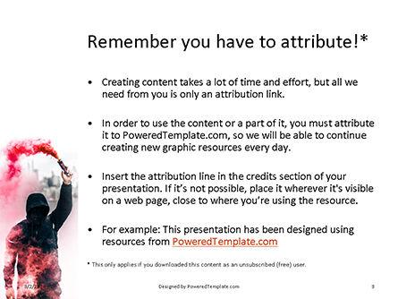 Pink Smoke Grenade Guy Presentation, Slide 3, 16573, People — PoweredTemplate.com