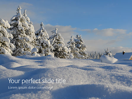 Nature & Environment: Amazing winter landscape presentation Kostenlose PowerPoint Vorlage #16605